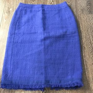 Blue J. Crew pencil skirt